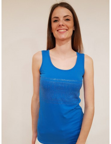 Fracomina tank top blu royal