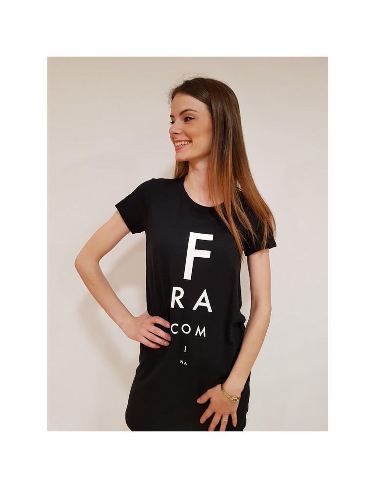 Fracomina maxi t shirt nera fr18sp323053 FRACOMINA