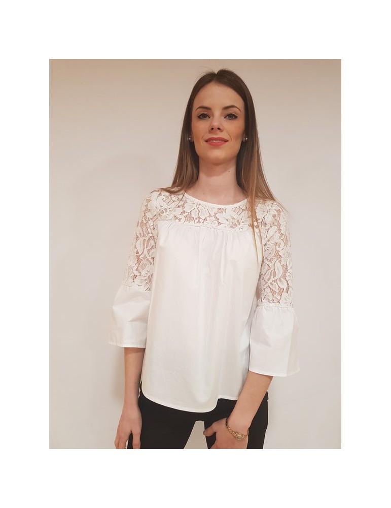 Fracomina camisole bianca fr18sp410108 FRACOMINA CAMICIE DONNA 52,46€