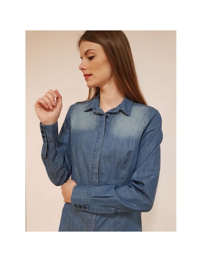 Fracomina camicia jeans stonewash fr18sp420349 FRACOMINA