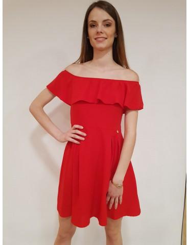 Fracomina mini dress con voilant rosso