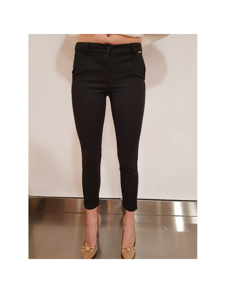 Fracomina chinos pant nero fr18sp655053 FRACOMINA PANTALONI DONNA product_reduction_percent