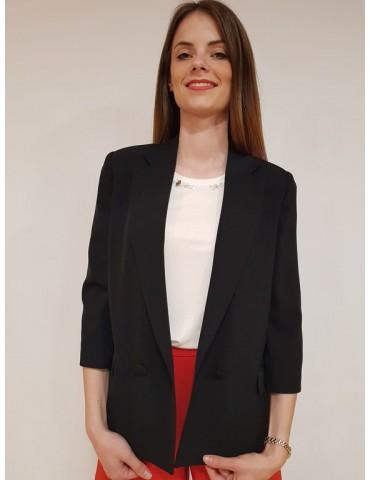 Fracomina giacca nera oversize