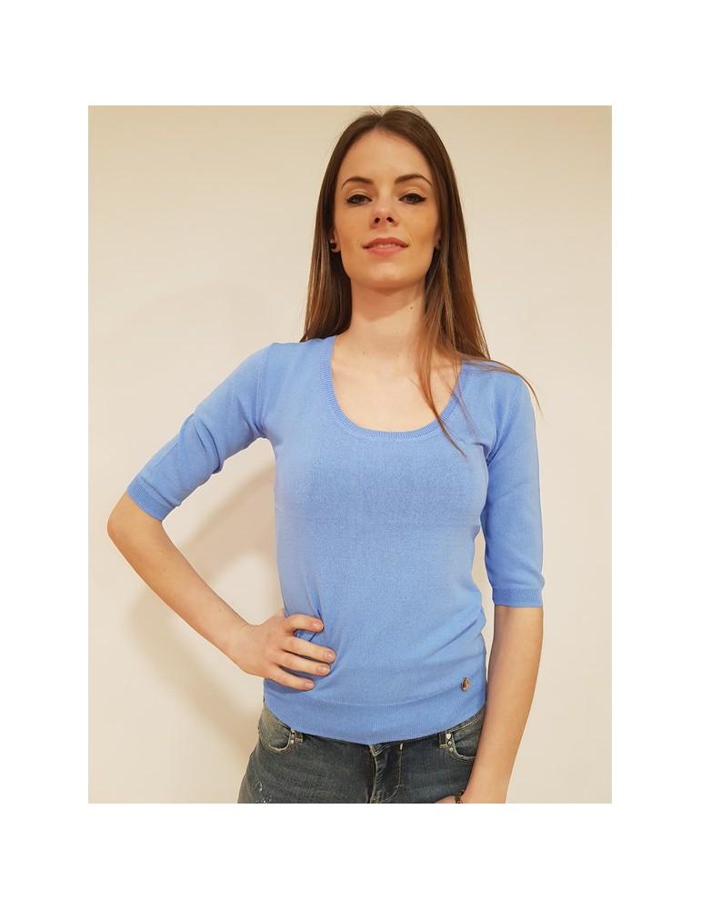 Fracomina maglia scollo madonna light blu fr18sp807175 FRACOMINA MAGLIE DONNA 40,98€