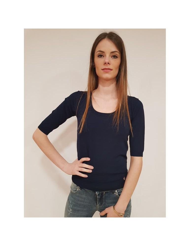 Fracomina maglia scollo madonna blu fr18sp807192 FRACOMINA MAGLIE DONNA 40,98€