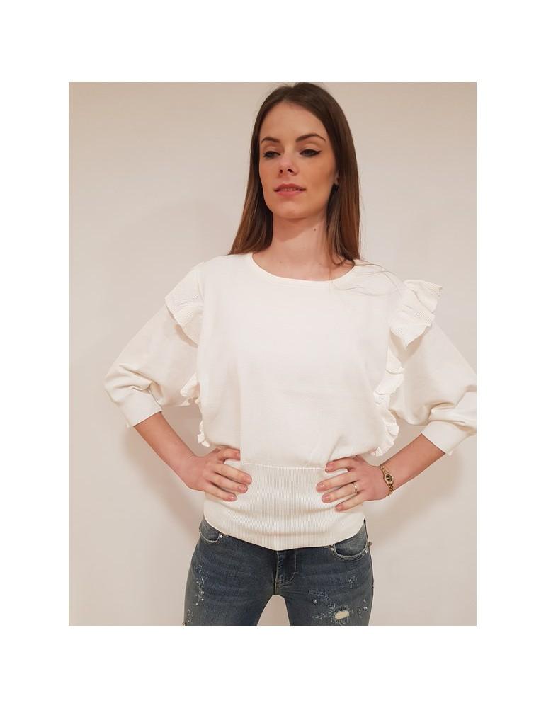 Fracomina maglia manica pipistrello bianca fr18sp816108 FRACOMINA MAGLIE DONNA 57,38€
