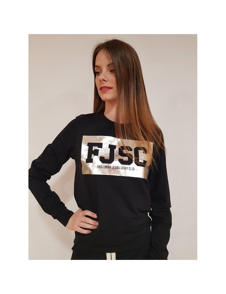 Fracomina felpa nera logo fr18sp917053 FRACOMINA FELPE DONNA 62,30€
