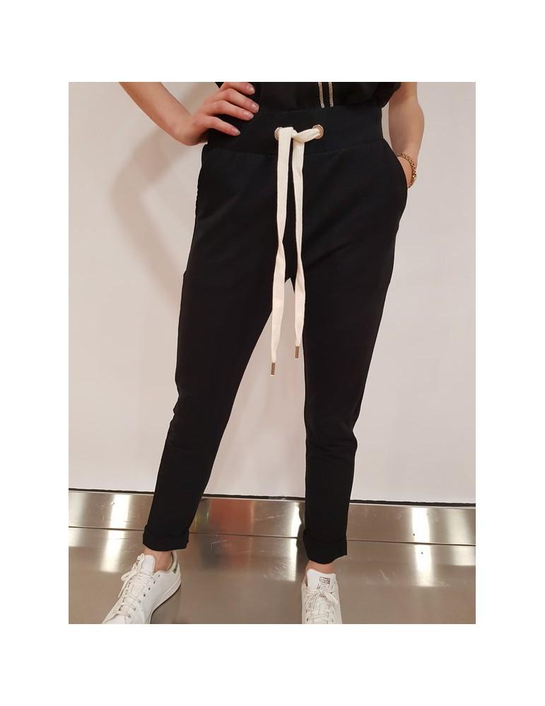 Fracomina pantalone tuta nero fr18sp919053 FRACOMINA