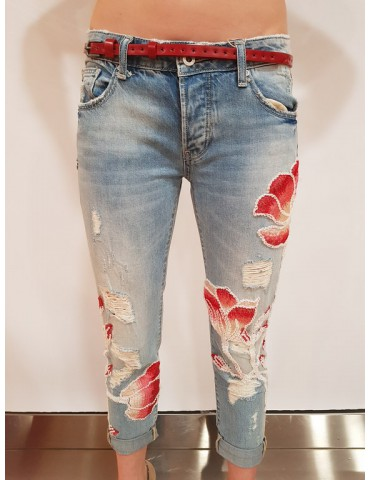 Fracomina jeans cara3 vintage bleach