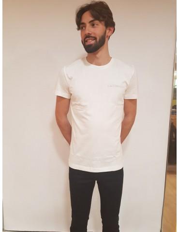 Calvin Klein t shirt slim bianca Typoko