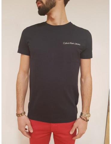 Calvin Klein t shirt slim blu Typoko