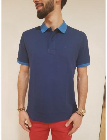 Polo blu Calvin Klein Paros regular