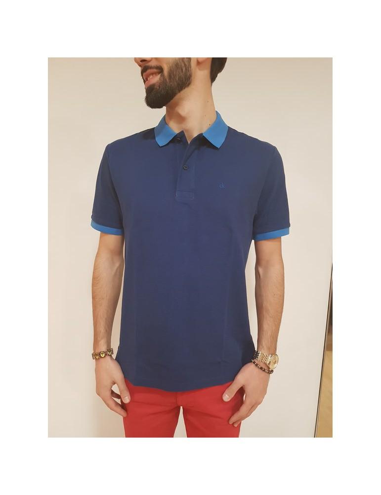 Polo blu Calvin Klein Paros regular j30j306938902 CALVIN KLEIN JEANS