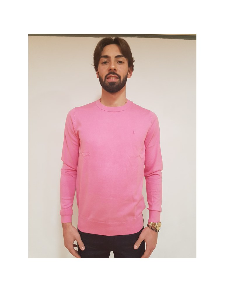 Maglia rosa slim Calvin Klein Stag j30j306941694 CALVIN KLEIN JEANS MAGLIE UOMO product_reduction_percent