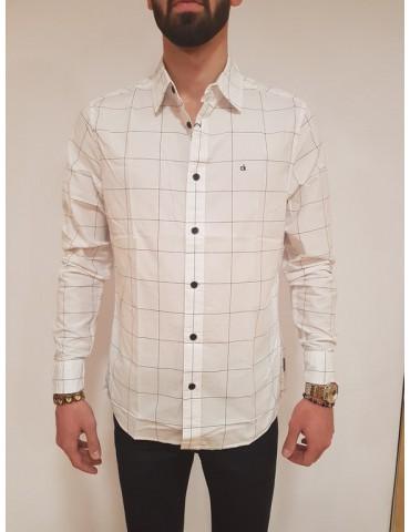 Camicia regular fit Calvin Klein bianca Wease