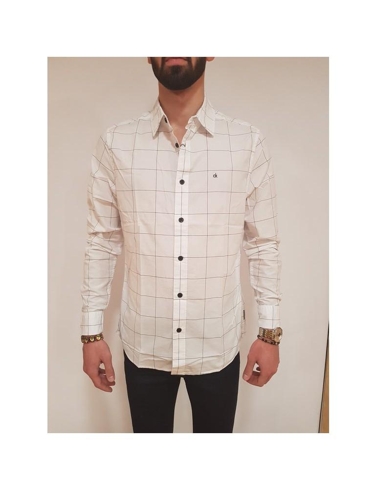 Camicia regular fit Calvin Klein bianca Wease j30j307014112 CALVIN KLEIN JEANS CAMICIE UOMO product_reduction_percent