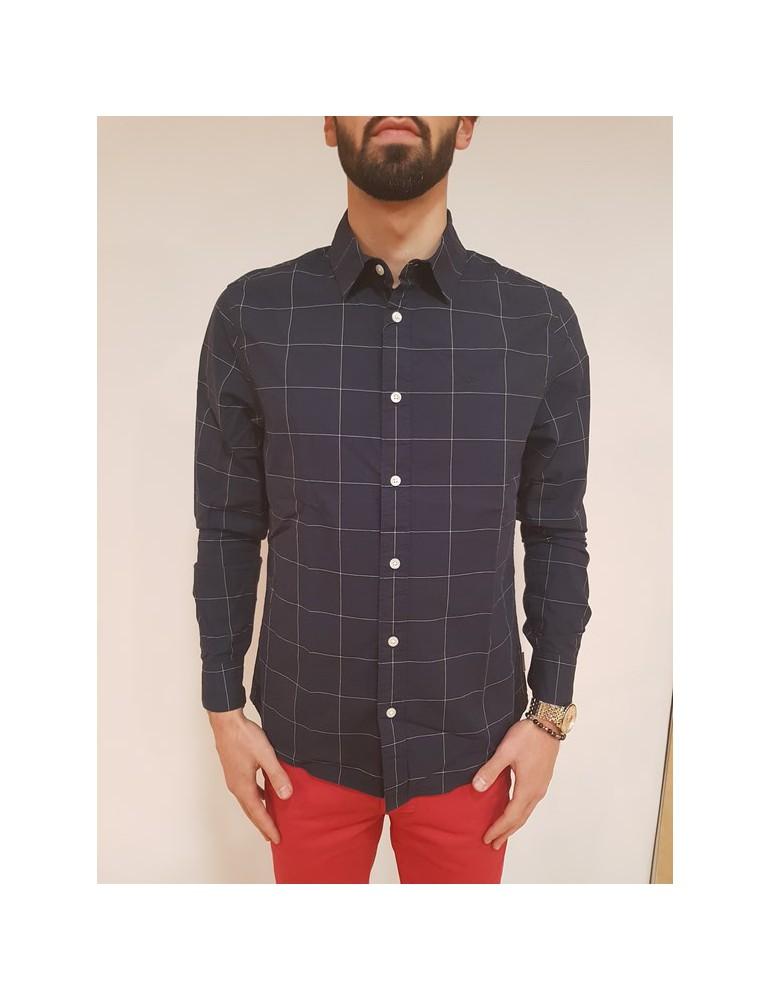 Camicia regular fit Calvin Klein blu Wease j30j307014402 CALVIN KLEIN JEANS