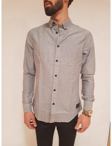 Calvin Klein camicia slim blu Wilbens
