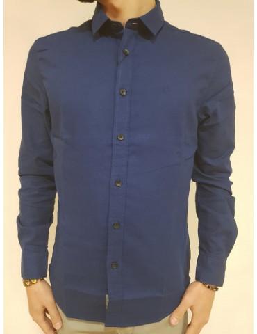 Calvin Klein camicia blu regular fit Wetsel