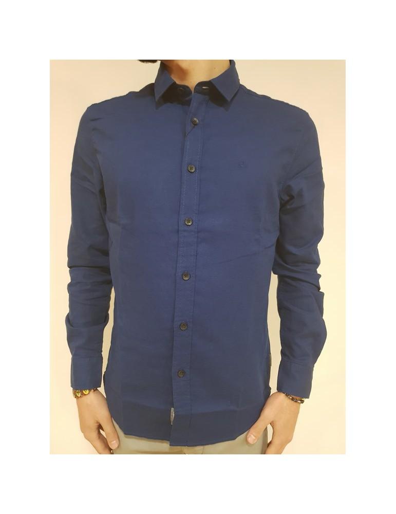 Calvin Klein camicia blu regular fit Wetsel j30j307022407 CALVIN KLEIN JEANS CAMICIE UOMO 73,77€