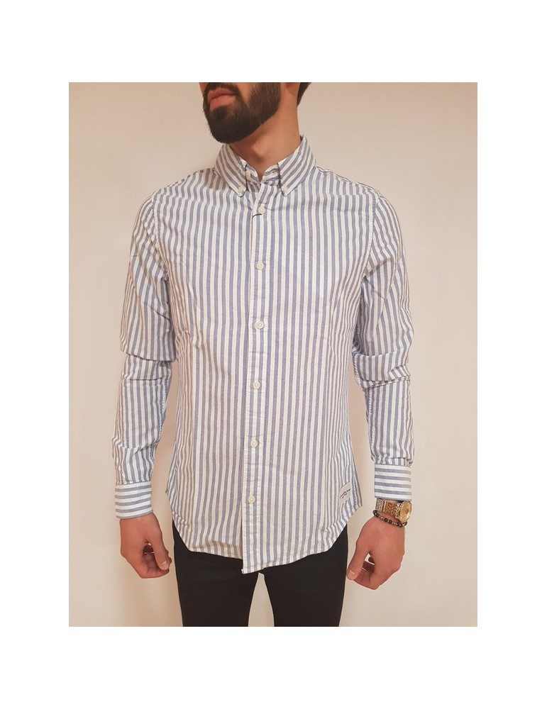 Calvin Klein camicia rigata bianca e blu Wilbens j30j307069901 CALVIN KLEIN JEANS