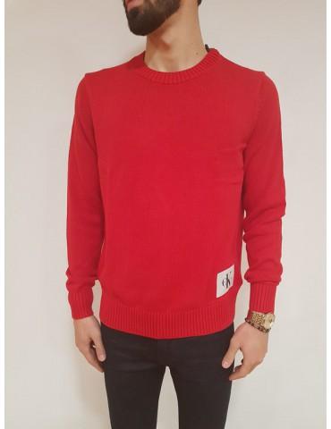 Maglioncino regular fit rosso Calvin Klein Senet