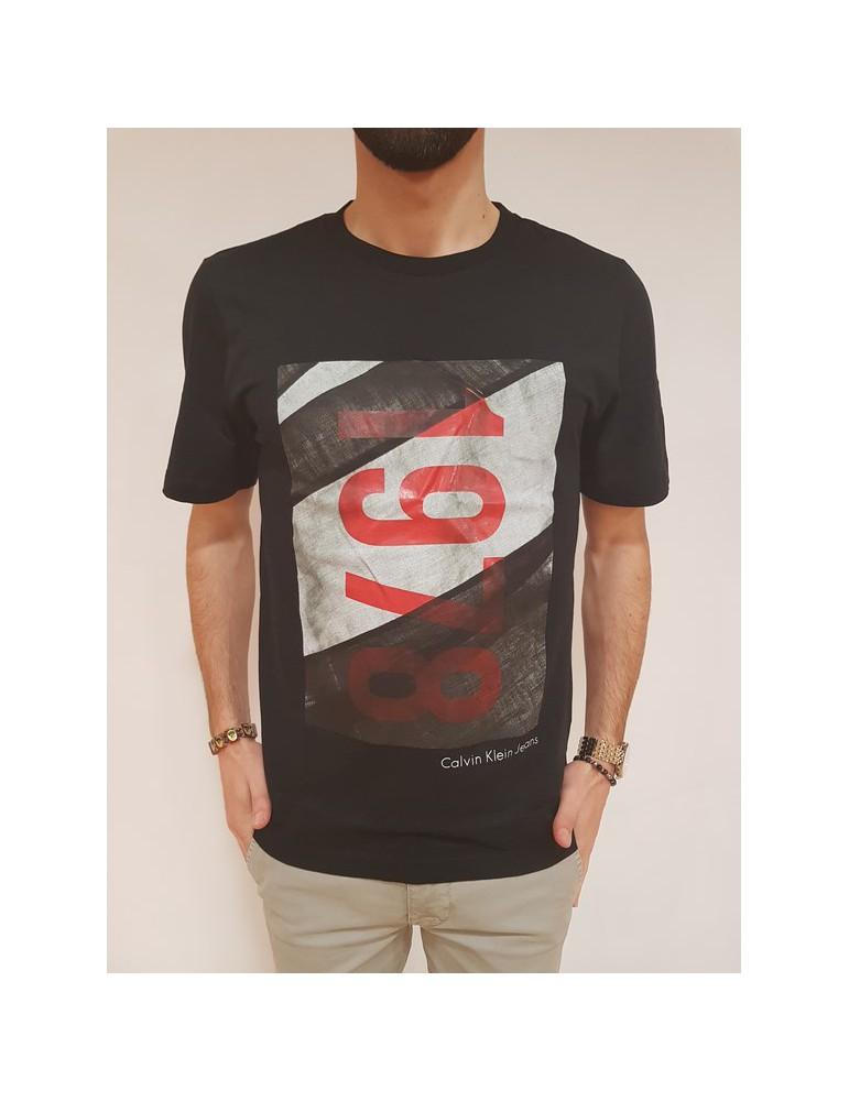 Calvin Klein t shirt regular fit nera Teasia 2 j30j307518099 CALVIN KLEIN JEANS