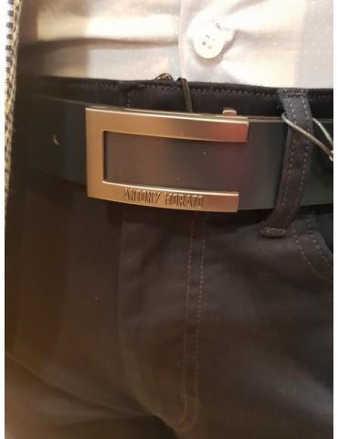 Cintura blu Antony Morato in pelle lucida