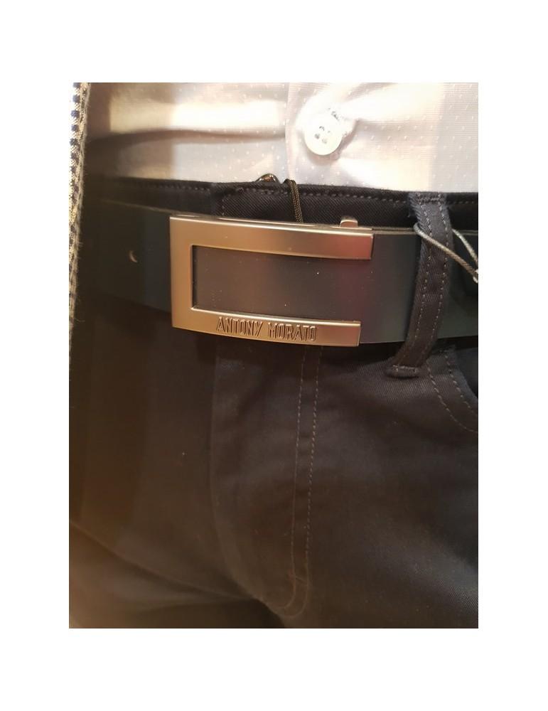 Cintura blu Antony Morato in pelle lucida mmbe00333le1001127000 ANTONY MORATO