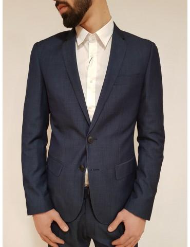 Slim blue Antony Morato Oxford Loud jacket