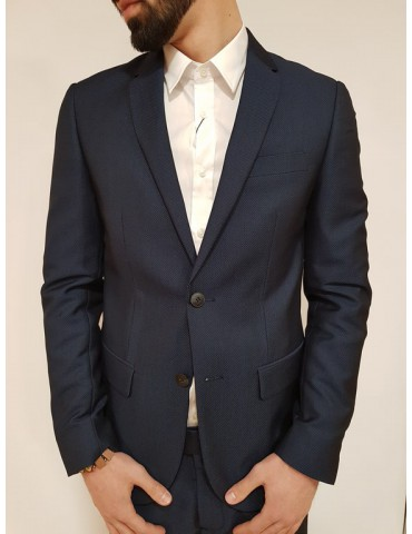 Giacca uomo slim blu Antony Morato micropois