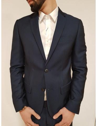 Slim blue slim man jacket Antony Morato micropois