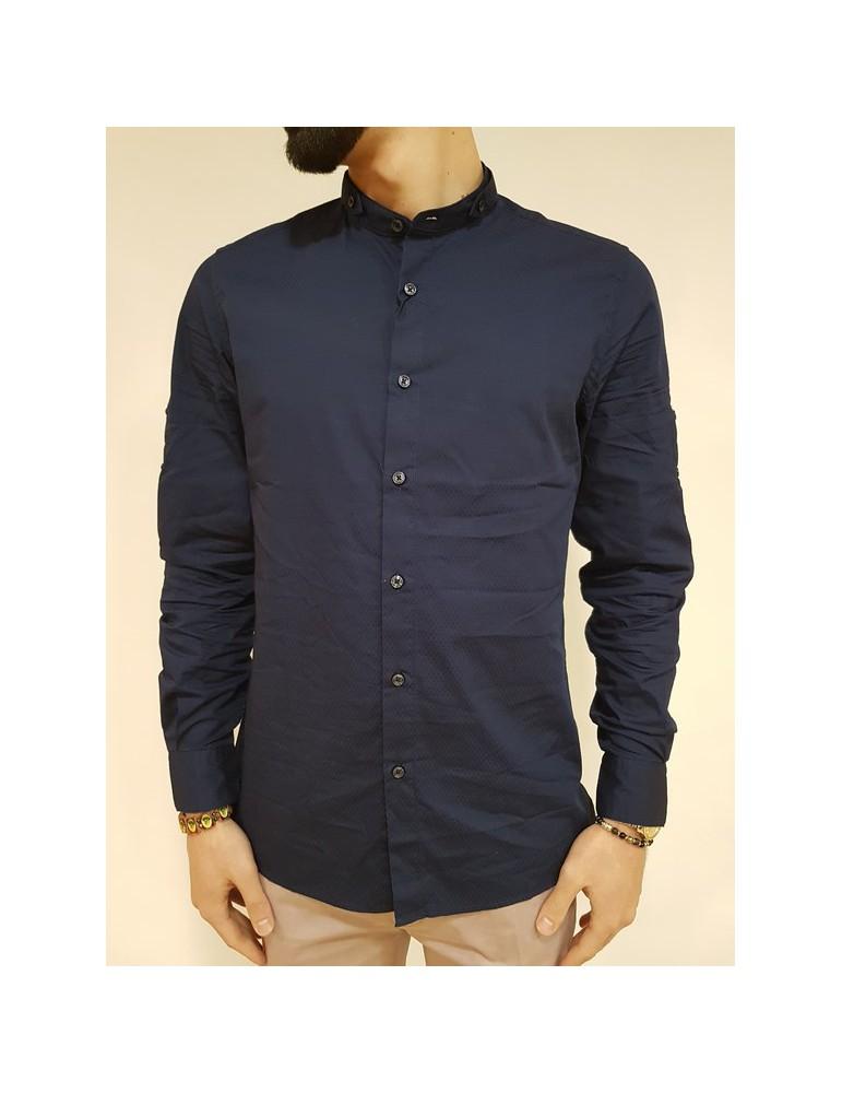 Antony Morato camicia coreana blu regular fit mmsl00429fa4400067058 ANTONY MORATO
