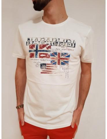 Napapijri t shirt bianca Syros