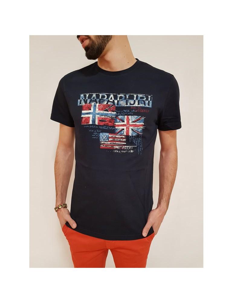 Napapijri t shirt blu Syros n0yhcw176 NAPAPIJRI