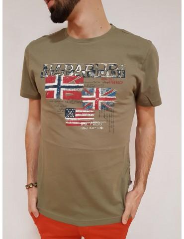Napapijri t shirt kakhi Syros