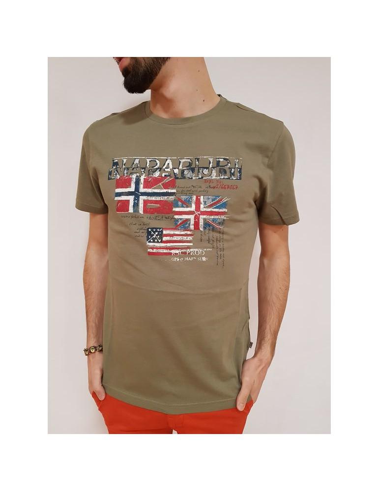 Napapijri t shirt kakhi Syros n0yhcwgc3 NAPAPIJRI T SHIRT UOMO 32,79€