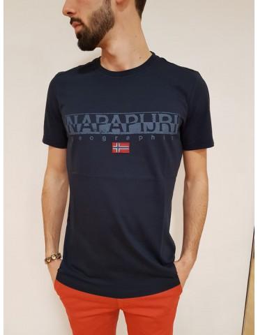 T shirt Napapijri blu Sapriol ss 1
