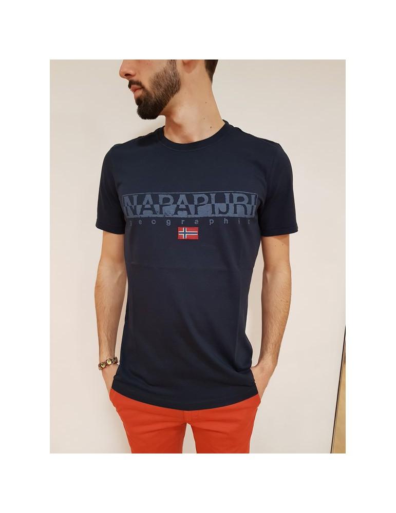 T shirt Napapijri blu Sapriol ss 1 n0yhcy176 NAPAPIJRI