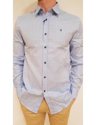 Camicia Trussardi celeste Miami Oxford