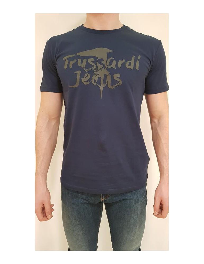 Trussardi t shirt blu regular 52t00240-1t001675u290 TRUSSARDI JEANS T SHIRT UOMO product_reduction_percent