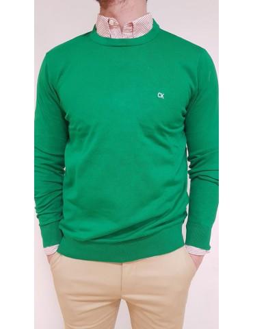 Maglia uomo Calvin Klein tinta unita verde