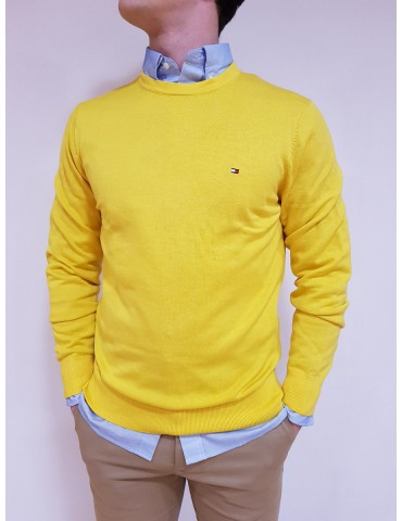 Solid yellow Tommy Hilfiger sweater