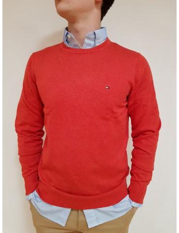 Pullover Tommy Hilfiger rosso tinta unita
