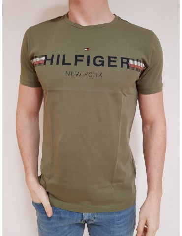 T shirt uomo Tommy Hilfiger verde New York
