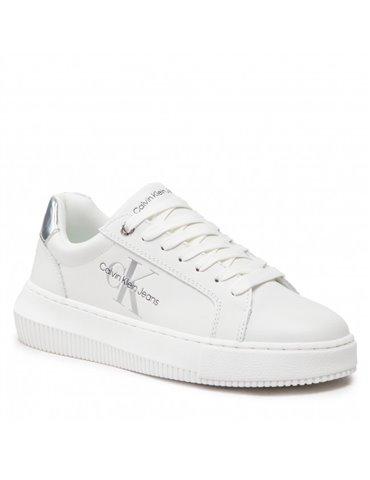 Gaudi t shirt bianca con strass alle maniche