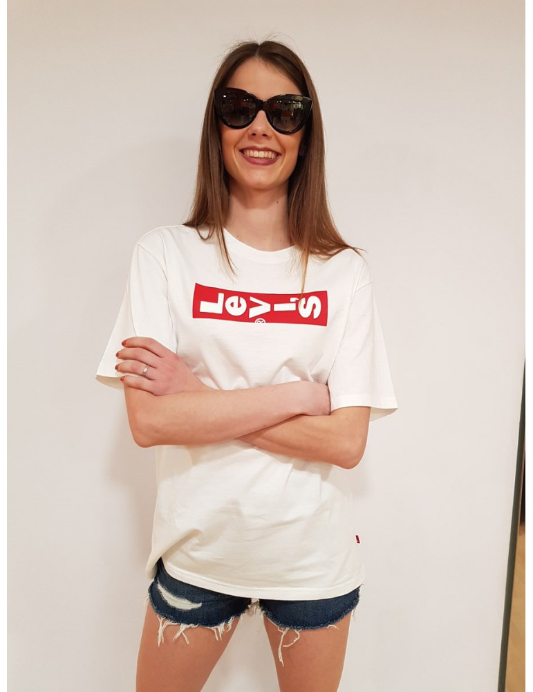 Maglietta Levi's bianca donna oversize graphic tee 69978-0015 LEVI'S T SHIRT DONNA product_reduction_percent