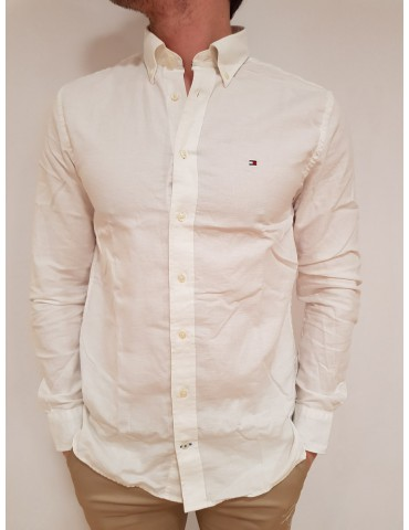Tommy Hilfiger camicia bianca lino