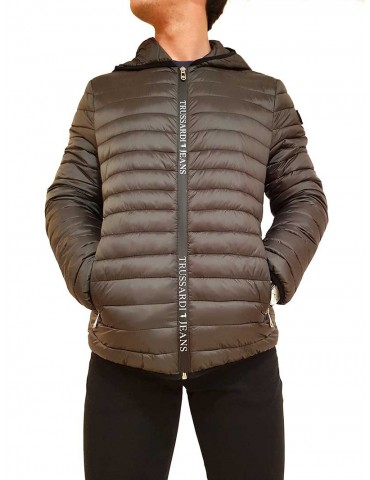 Trussardi down jacket with gray hood