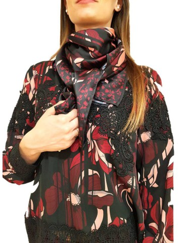 Fracomina patterned scarf multicolor flowers